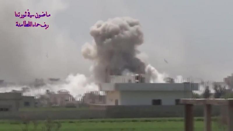 Удары ВВС России по террористам ССА в Аль Латамина