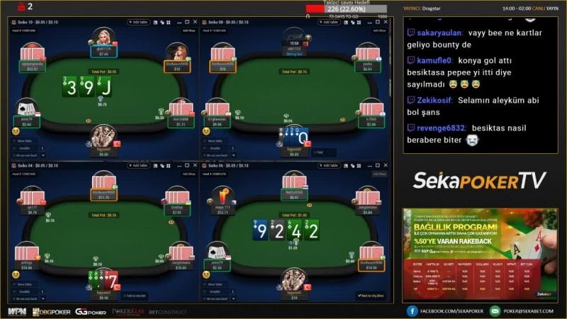 Derdest On Air! Teksas Hold'em MTT Poker - Sekapoker TV