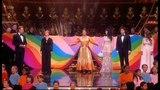 Olivier Awards: Joe McElderry, Lee Mead and Jason Donovan at the Royal Albert Hall as Joseph