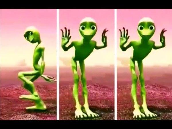 Инопланетянин танцует. Танцующий зелёный человечек -