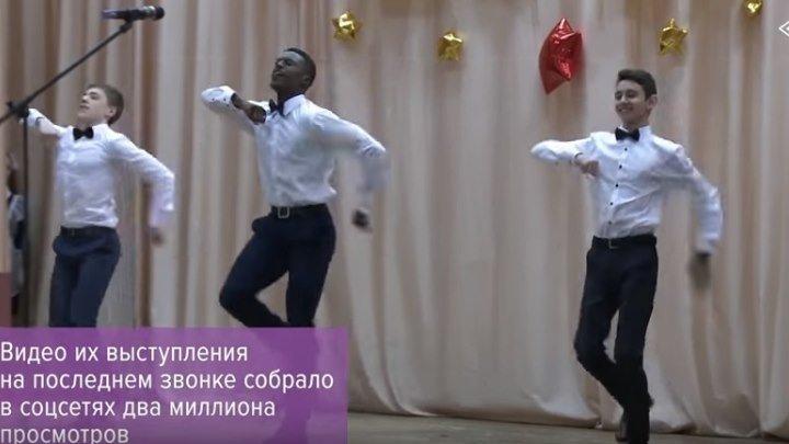 Африканец армянин и азербайджанец танцуют лезгинку