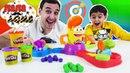 Папа Дома • Папа РОБ и ЯРИК играют в Плей До Прямо в цель Play Doh!