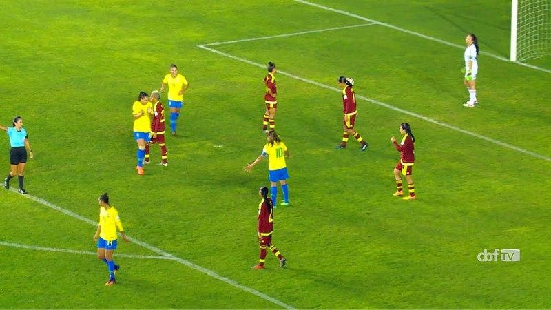 Seleção Brasileira Feminina: confira os gols da vitória do Brasil 4x0 Venezuela na Copa América
