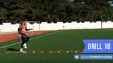 Football coaching video - soccer drill - ladder coordination (Brazil) 16