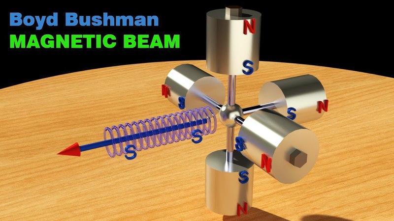 FREE ENERGY, Boyd Bushman Magnetic Beam, SOLUTION for Magnetic Motor!