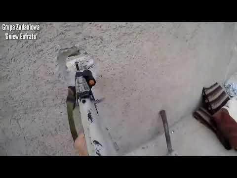 Война в Сирии Перестрелка от первого лица в городе Табе 2017 Видео снято на GoPro
