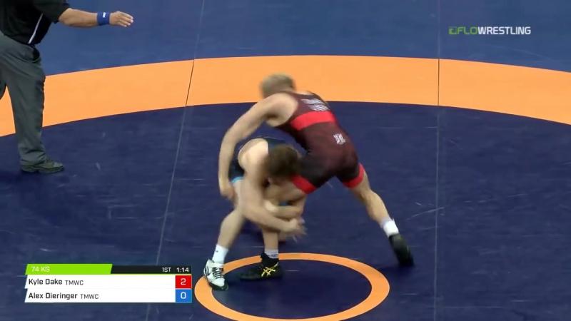 74 Finals - Kyle Dake (TMWC) vs. Alex Dieringer (TMWC) - YouTube