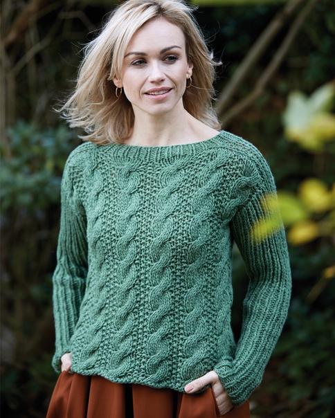 Узоры вязания свитера женского 739