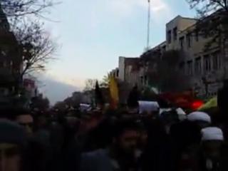иранские азербайджанцы на митинге в поддержку Али Хаменеи и правительства ИРИ