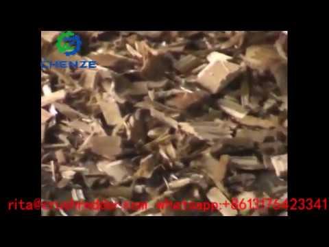 Drum wood waste board chipper shredder древесная дробилка
