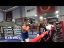 Jose Aldo Sparring Pro Boxer Looking Like Chino Maidana With The Help Of Robert Garcia