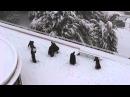 Католические монахи сыграли в снежки в Иерусалиме