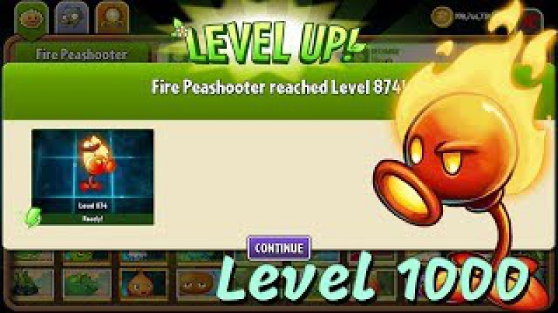 Plants vs Zombies 2-Fire Peashooter Level 1000 vs Final Zomboss