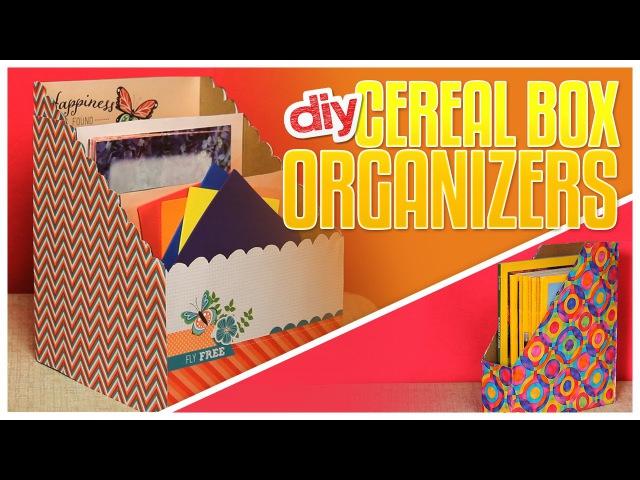 3 DIY Cereal Box Organizers - Do It, Gurl
