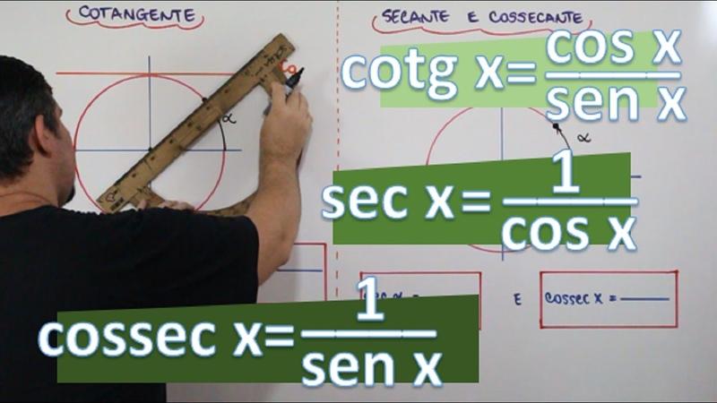 COTANGENTE, SECANTE E COSSECANTE (C/ EXEMPLOS) (AULA 11/24)