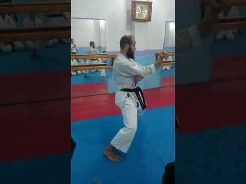 Explication some techniques in Kata Tekki Shodan.