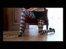 - Baci Lingerie - Strømpebukser i sort-champagnefarvet skakbræt-mønster