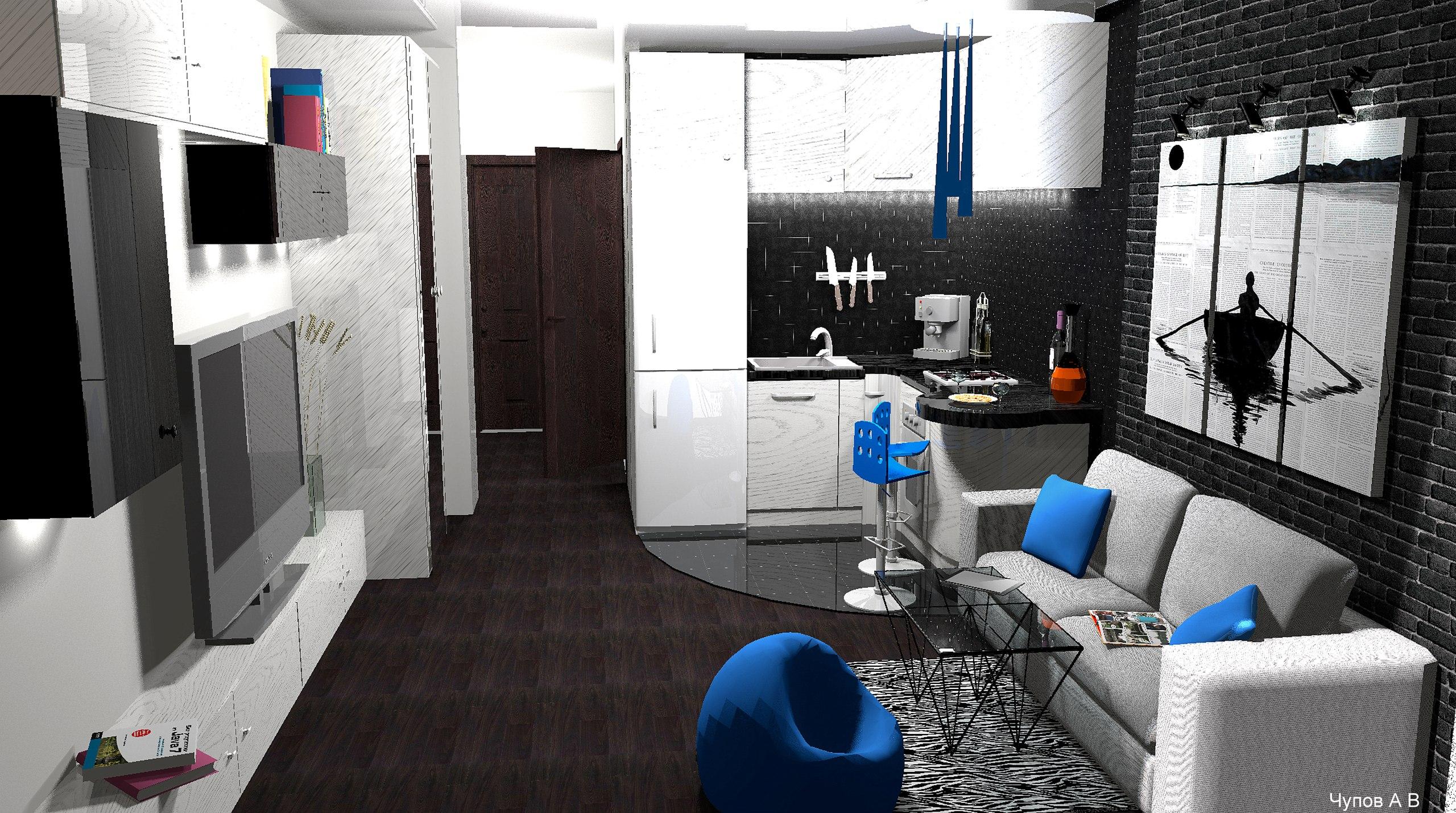 Квартира-студия 23 кв/м .