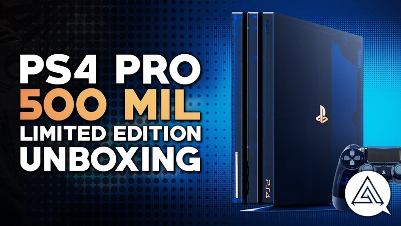 PS4 Pro 500 Million Limited Edition Console Unboxing