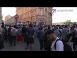 Болельщики сборной Аргентины в Петербурге. Прямая трансляция