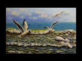 Как рисовать чаек - How to painting a gull - Andrew Pugach