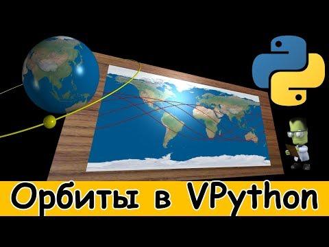 Моделируем орбиты планет и спутников. Чертим треки орбит на карте в Visual Python.
