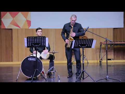Дуэт - Мотыка Алексей (саксофон) и Курик Владислав (перкуссия). Астор Пияццолла Танго-этюд №3