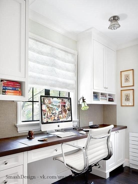 Идеи для обустройства рабочего места у окна