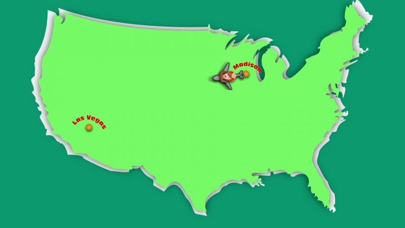 Моя анимация посвященная путешествию в Лас Вегас = Ура =