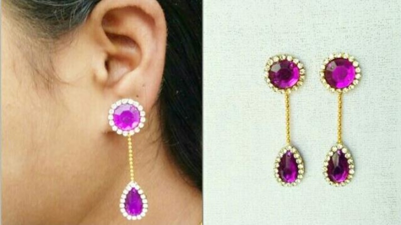 DIY Simple And Easy Earrings Simple and easy Tutorial
