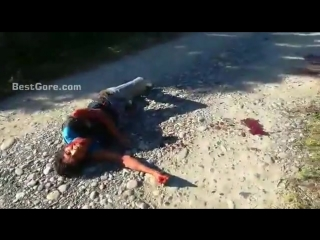 Man-shot-arm-roll-agony-road-mexico.mp4