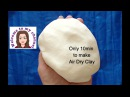 How to make Air dry clay. In 10 minutes. DIY Polymer clay No cooking.