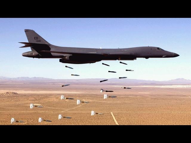 Stunning Video of B-1 Lancer in Action - Carpet Bombing, Takeoff, Landing