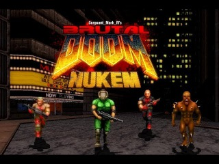 Brutal Doom v21 Beta (PC) - Duke Nukem map - Gameplay!