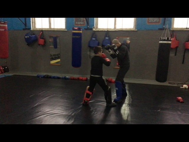 Pitbull-Sambir training session К-1. muay thai. Cossack Fight