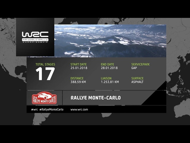 WRC - Rallye Monte-Carlo 2018 The 17 Stages