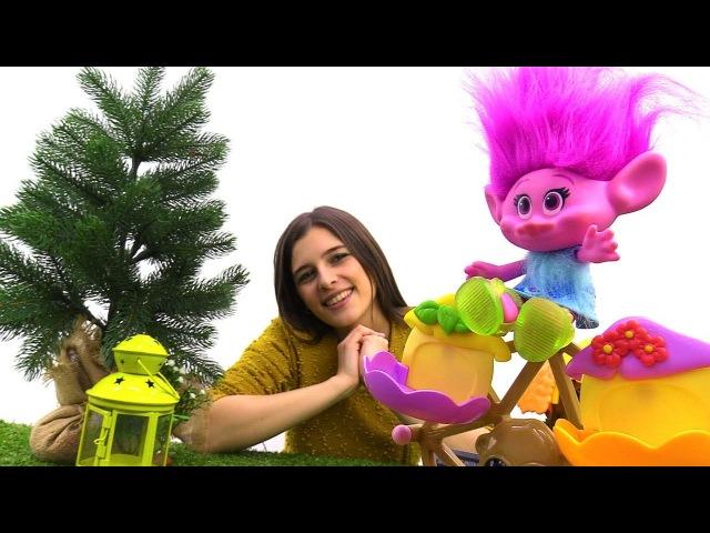 Тролли (Trolls) Розочка и Цветан - Видео с игрушками - Toyclub