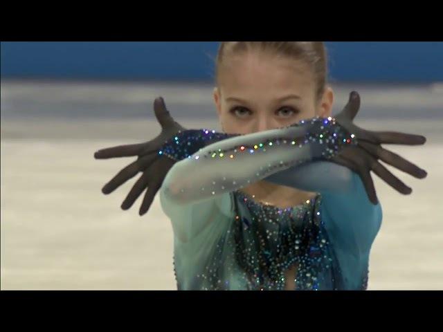 Александра Трусова Произвольная программа на чемпионате мира 2018 среди юниоров