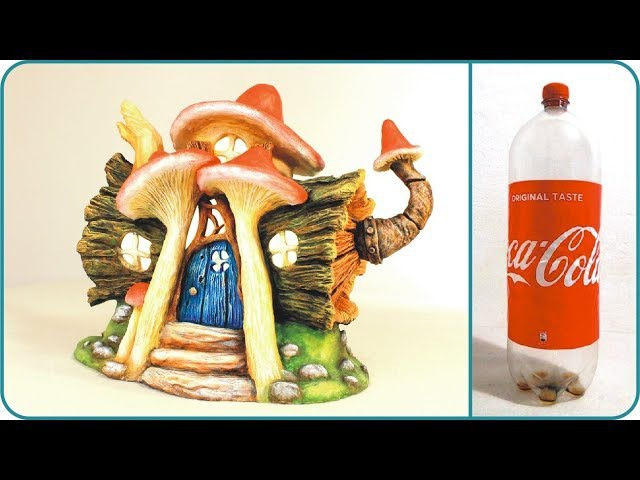 ❣DIY Log Fairy House Recycling a Plastic Bottle❣