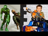 Bad Kids & Bad Zombies NERF Zombie Apocalipse Johny Johny Yes papa song Nursery Rhymes for children