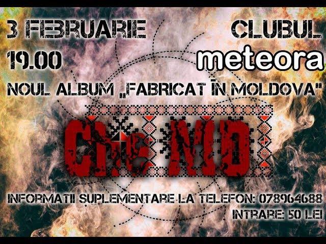 Anunțarea concertului Che-MD | Chișinău | 3 februarie | clubul METEORA