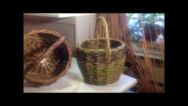 Как сплести самую простую корзину.Ч.2.Basket wickerwork.