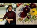 Вышитое платье с меховыми розами Мелодия цветов - начало вышивки
