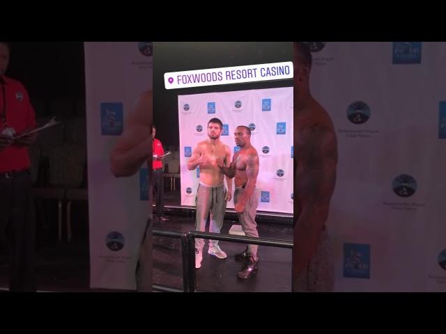 Евгений Хитров vs. Деррик Финдли. Церемония взвешивания. KhytrovFindley