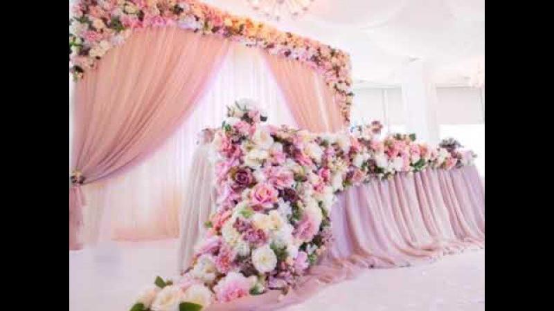 Breathtaking Wedding Head Table Decoration and Backdrop Ideas