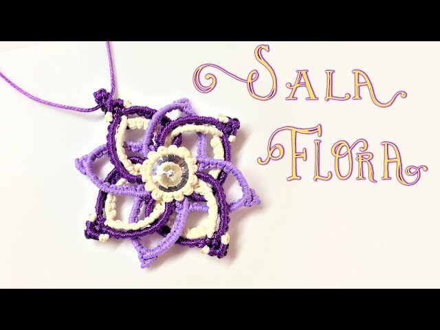 How to macrame The Sala flora pendant - Hướng dẫn thắt mặt dây chuyền hoa SALA
