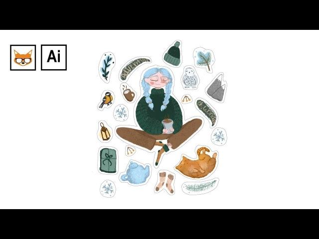 Как подготовить стикеры (наклейки) к печати в Adobe Illustrator