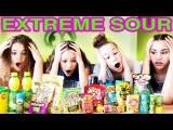 SOUREST GUMMY DRINK IN THE WORLD CHALLENGE!! Warheads, Toxic Waste Smoothie (Haschak Sisters)