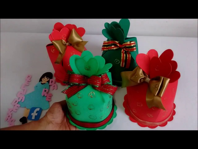 DIY Lembrancinha de Natal Porta Mine Panetone