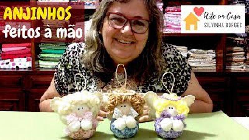 Faça fácil Anjinhos com Fuxico feitos à mão!